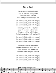 Grandfather Clock Song I U0027m A Nut Lyrics Printout Music Pinterest