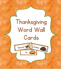 preschool thanksgiving word wall early childhood academy