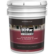Exterior Paint And Primer - behr premium plus ultra 5 gal ultra pure white flat exterior