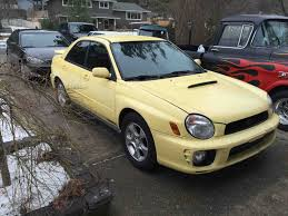 subaru yellow rare