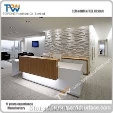 Marble Reception Desk 2016 New Design Chinese Factory Corian Acrylic Solid Surface