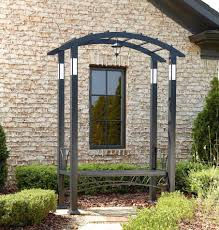 metal garden arbor with seat home outdoor decoration
