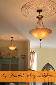 Light Fixture Ceiling Medallion by Stencil Ceiling Medallion My Personal Review Debbiedoo U0027s
