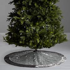 buy lewis winter palace sequin tree skirt silver 125cm