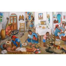 wilson bigaud haitian art paintings interior scene