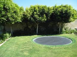 backyard in ground trampoline u2014 indoor outdoor homes diy in