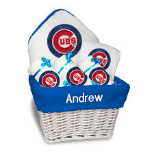 Fitness Gift Basket Chicago Cubs Newborn U0026 Infant Personalized Medium Gift Basket
