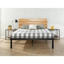Wood Platform Bed Frame Zinus Sonoma Metal And Wood Black Platform Bed Hd Hbpba 14f