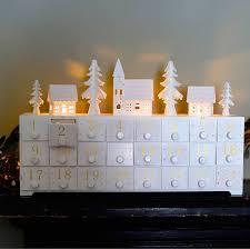 wooden led lit advent calendar advent calendars keepsakes and