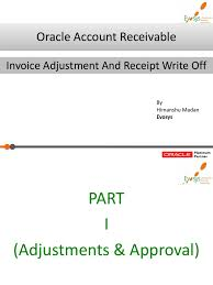 ar adjustment guide invoice write off