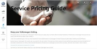 service pricing guide for volkswagen models in malaysia