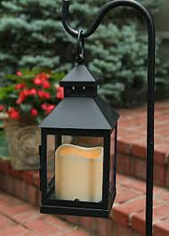 mini square battery operated candle lantern timer