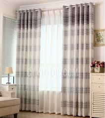 Grey Plaid Curtains Grey Cotton And Linen Blend Fabric Plaid Simple Curtains