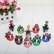 aliexpress buy 10pcs cute super mario bros kart pull