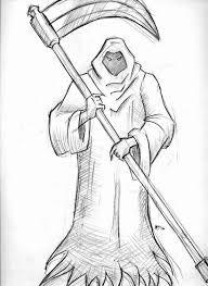 drawn grim reaper easy pencil color drawn grim reaper easy