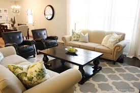 Square Living Room Table by Patterned Grey Area Rug Living Room With Beige Sofa And Pillows