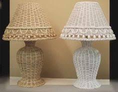 Rattan Table Lamp 50s Tiki Desk Lamp Vintage Italian Bamboo Lamp Mid Century