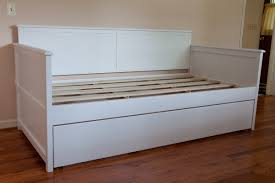 Diy Daybed Frame Size White Wood Daybed With Trundle Design Decofurnish Image
