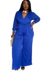 royal blue jumpsuit royal blue bold sleeve high polished studded beaded