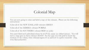 Map Of New England Colonies by Journey Through The Colonies Ppt Download