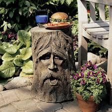 shop design toscano odin greenman 17 5 in tree garden statue at