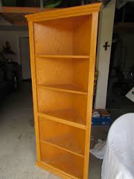 corner cabinet bookcase hokey oak bookcase remake d i y u2013 midcenturyobsession