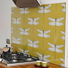 Kitchen Backsplash Wallpaper by Diy Splashback Backsplash With Wallpaper Hometalk