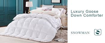 Duck Feather And Down Duvet Reviews Amazon Com Snowman White Goose Down Comforter Full Queen Size 100