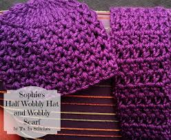 tw in stitches sophie u0027s half wobbly hat and scarf free pattern