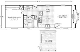 Mobile Home Floor Plans Single Wide Ev1 14 X 40 533 Sqft Mobile Home Factory Expo Home Centers