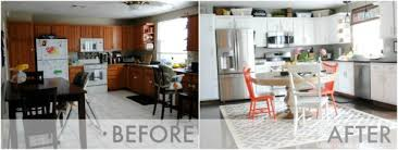 Kitchen Remodel Before After by Budget Friendly Modern White Kitchen Renovation Home Tour