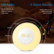 alarm clock that wakes you up during light sleep wake up light 2017 newest version wake up light colored sunrise