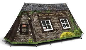 worlds smallest pub u0027 personalised pub camping tent