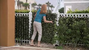 compass home expandable faux ivy privacy fence with lights on qvc