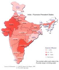 India Map Of States by Incidence Of Fluorosis Map Showing States Affected By Fluorosis