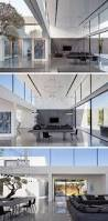 this minimalist home of double height ceilings and large windows