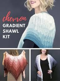 knit kit shawl and wrap knitting kits