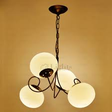 Chandelier Glass Globes Best 4 Light Globe Glass Shade Modern White Chandelier