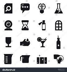 cocktail icon vector 16 vector icon set search document stock vector 732803239