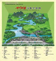 Guilin China Map by Tourist Map Of Yangshuo Shangri La Park Guilin China Travel Guide