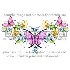color flower butterfly and gemini design