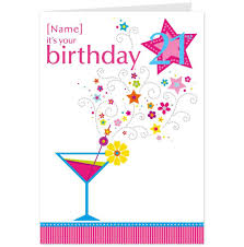 martini birthday wishes party glass clip art 28