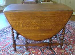 Oak Drop Leaf Table Antique Oak Barley Twist Drop Leaf Table Large For Sale