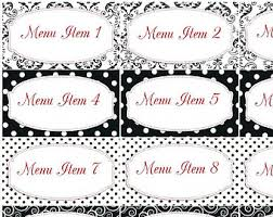pink diva candy buffet labels place cards pink and