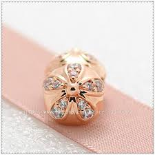 pandora sterling silver clip bracelet images 2018 925 sterling silver rose gold plated dazzling daisy clip jpg