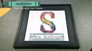 teacher appreciation gift crayola crayon monogram texas craft house