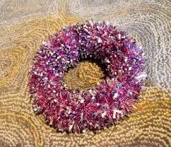 christmas tinsel christmas tinsel snowflake wreath see craft