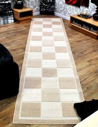 Extra Wide Table Runners Checkered Brown Or Cream Extra Long U0026 Extra Wide Hallway