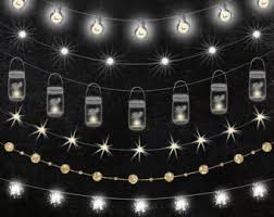 Mason Jar String Lights Lights Clipart Etsy