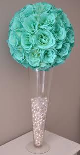 Tiffany Blue Wedding Centerpiece Ideas by Mint Flower Ball Wedding Centerpiece Wedding By Kimeekouture